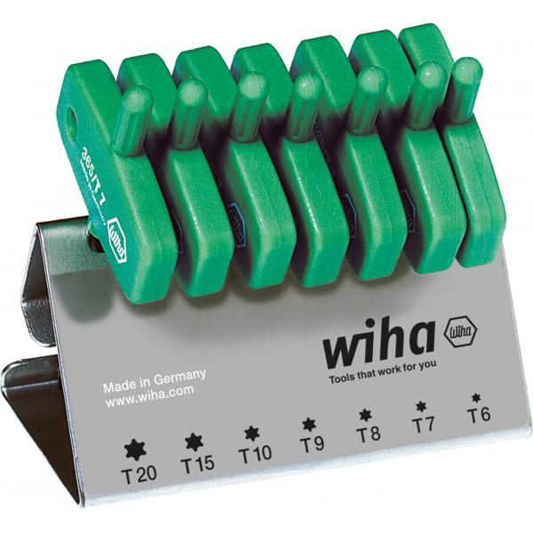 WIHA L-key with key handle set TORX black oxidised included box (8-pcs.) - 1