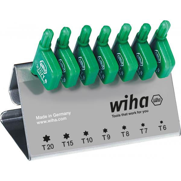 WIHA L-key with flag handle set TORX black oxidised included box (8-pcs.) - 1