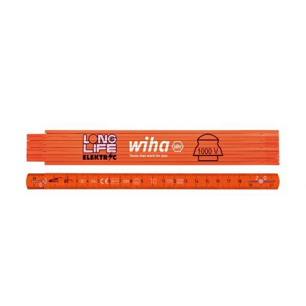 WIHA Electrician's Longlife® folding ruler 2 m 10 segments - 1