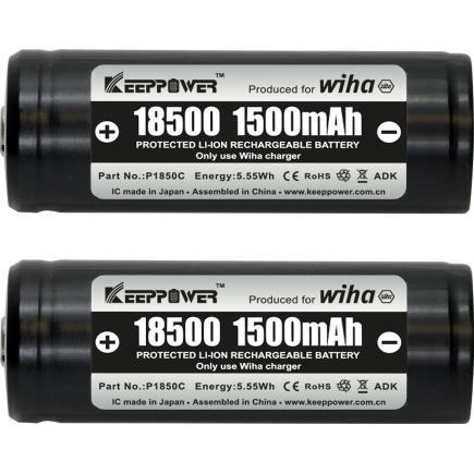 WIHA Battery set, 18500 Li-ion 2 units in box - 1