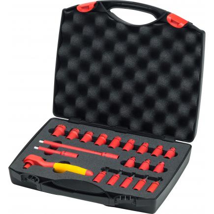 """WIHA Ratchet wrench set insulated 1000V 1/4"""" included case (20-pcs.) - 1"""