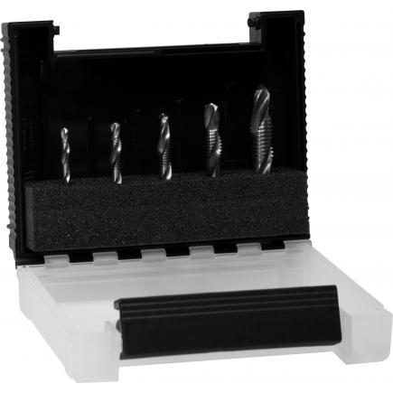 "WIHA Combination drill bit set 1/4"" included box (6-pcs.) - 1"