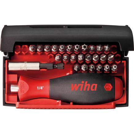 "WIHA Bit set Collector Security Standard 25 mm and torsion bits assorted 1/4"" included box (28-pcs.) - 1"