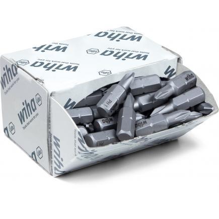 """WIHA Bit set Standard 25 mm Phillips 1/4"""" in box (50-pcs.) - 1"""