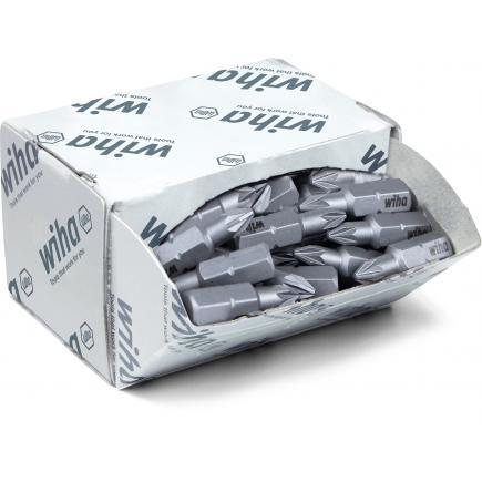 """WIHA Bit set Standard 25 mm Pozidriv 1/4"""" in box (50-pcs.) - 1"""