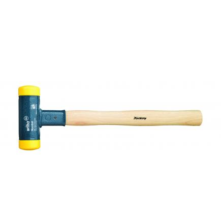 WIHA Soft-faced hammer dead-blow with hickory handle and round striking head - 1