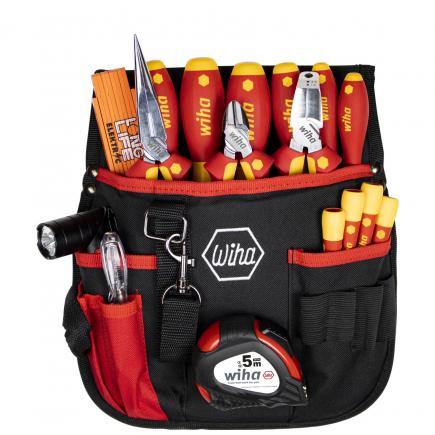WIHA Tool set electrician mixed 1000V included belt pouch (18-pcs.) - 1