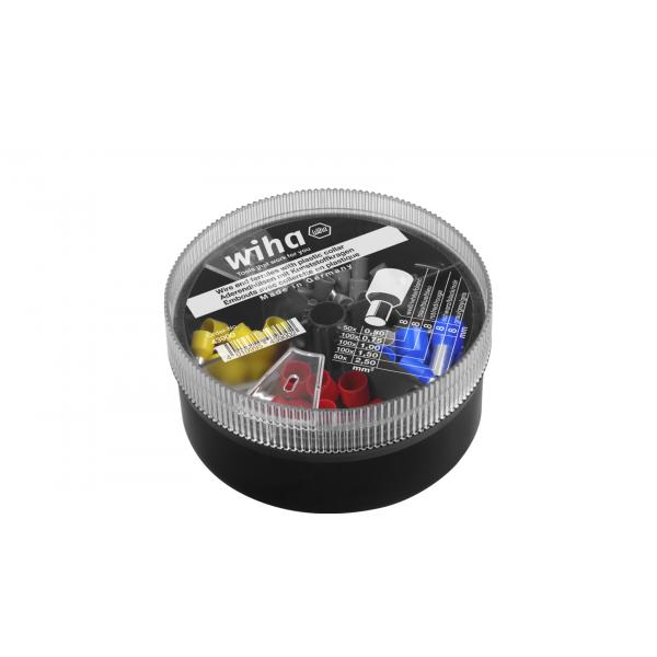 WIHA Wire end sleeves with plastic collar set 0,5 - 2,5 mm² with colour code 1 (FR) (400pcs.) - 1