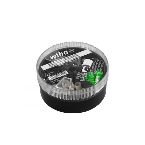 WIHA Wire end sleeves with plastic collar set 4–16 mm² with colour code 2 (DE) (100pcs.) - 1
