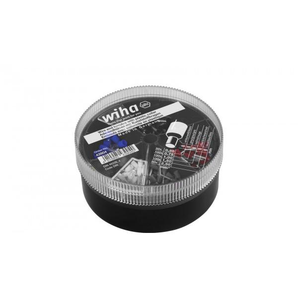 WIHA Wire end sleeves with plastic collar set 0,5 - 2,5 mm² with colour code DIN (400pcs.) - 1