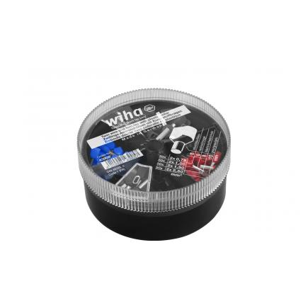 WIHA Twin wire end sleeves with plastic collar set 2 x 0.75 - 2 x 2.5 mm² with colour code 1 (FR) in box (200 pcs.) - 1