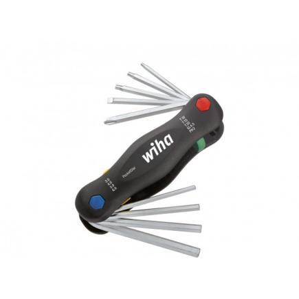 WIHA L-key set in Multitool PocketStar mixed SB version with euro hole hanger ( 9-pcs.) - 1