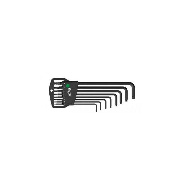 WIHA L-key set in Classic holder TORX® ball end black oxidised in blister pack (9-pcs.) - 1