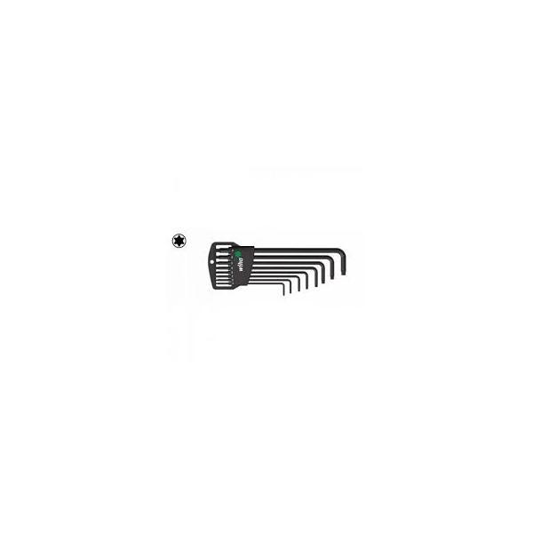 WIHA L-key set in Classic holder TORX® in blister pack black oxidised (9-pcs.) - 1