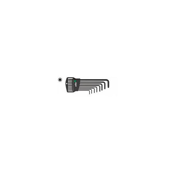 WIHA L-key set in Classic holder TORX® MagicSpring® in blister pack black oxidised (9-pcs.) - 1