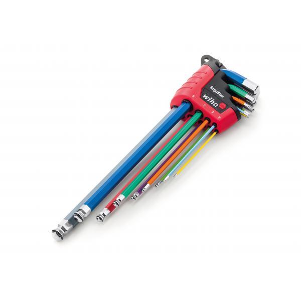 WIHA L-key set in ErgoStar holder hexagonal ball Magicring® in flourescent colour in blister pack (10-pcs.) - 1