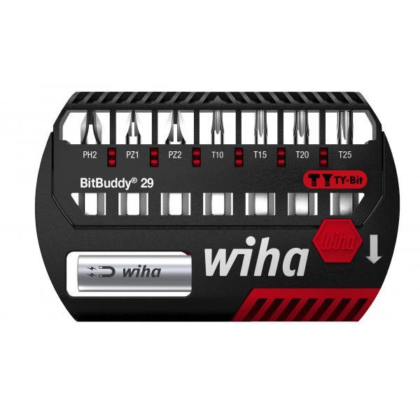 "WIHA BitBuddy® TY bit set 29 mm Phillips, Pozidriv and TORX® 1/4"" (9-pcs.) - 1"