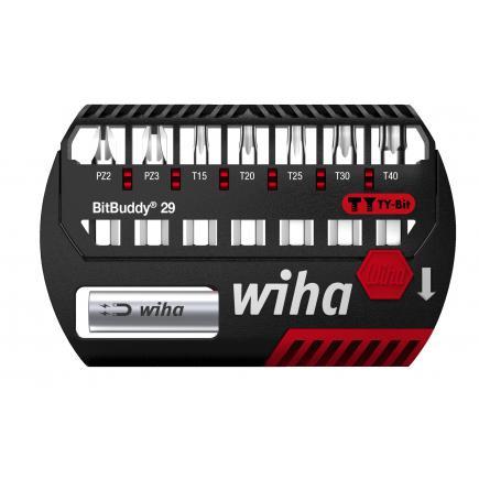 "WIHA BitBuddy® TY bit set 29 mm Pozidriv and TORX® 1/4"" (9-pcs.) - 1"
