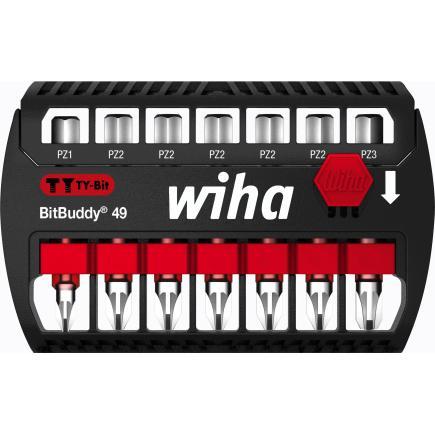 "WIHA BitBuddy® TY bit set 49 mm Pozidriv 1/4"" (8-pcs.) - 1"