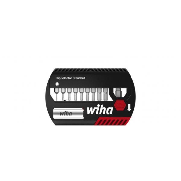 """WIHA Bit set FlipSelector Standard 25 mm hexagonal 1/4"""" with belt clip in blister pack (12-pcs.) - 1"""