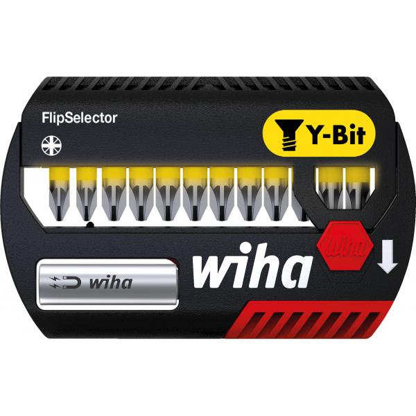 "WIHA FlipSelector Y bit set 25 mm Pozidriv 1/4"" (14-pcs.) - 1"
