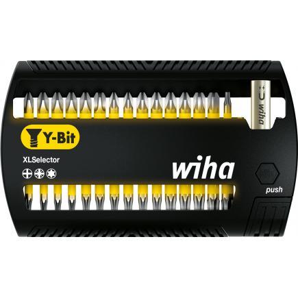 "WIHA XLSelector Y bit set 25 mm Phillips, Pozidriv e TORX® 1/4"" (32-pcs.) - 1"