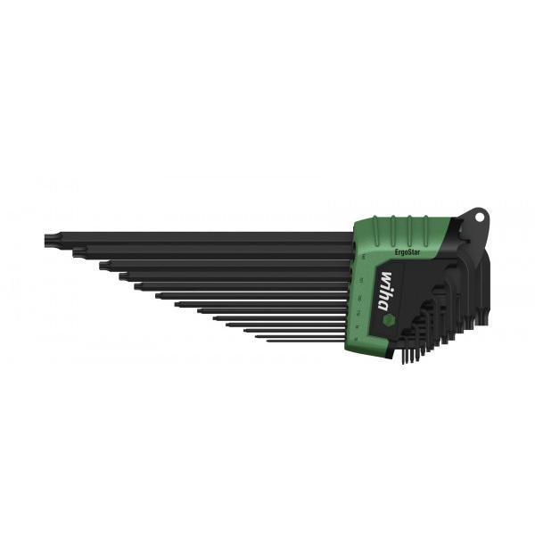 WIHA L-key set in ErgoStar holder TORX® MagicSpring® black oxidised (14-pcs.) - 1