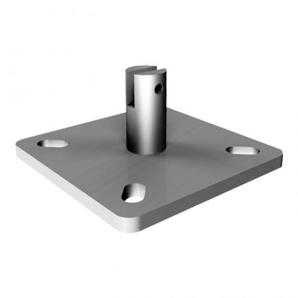 FISCHER Intermediate plate hot-dip galvanized for wall or inclined lines SVI - 1