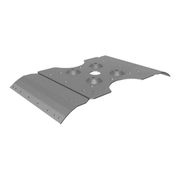 FISCHER Corrugated metal wavy plate inox for poles PCOP C - 1