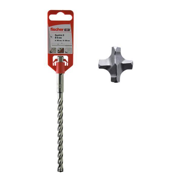 FISCHER Hammer drill with four cutting edges Quattric - 1