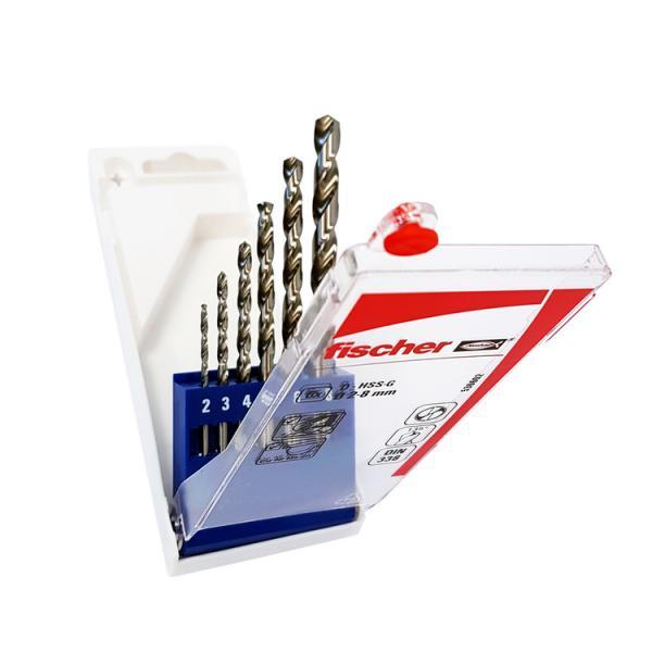 FISCHER Set of 6 metal drill steel bit HSS-G - 1