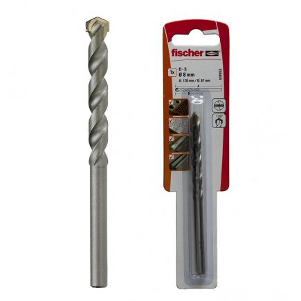 FISCHER Cylindrical stone drill bit with carbide tip in blister PMN K - 1