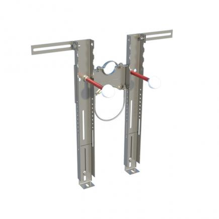 FISCHER Universal pre-assembled system for hanging WC and bidet with collars PREMIUM - 1