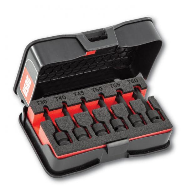 """USAG Assortment with 1/2"""" impact TORX® sockets in ABS case (6 pcs.) - 1"""