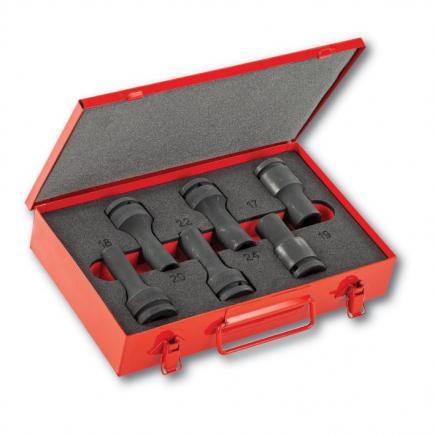 "USAG Assortment with impact bihexagonal and TORX® sockets 3/4"" in metal case (6 pcs.) - 1"