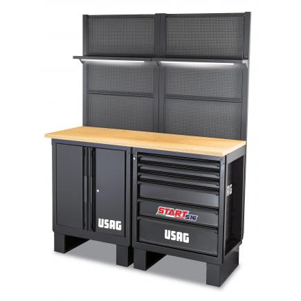 USAG Workshop furniture - wooden top - 1450x650x2000 mm - 1