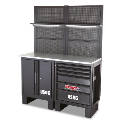 USAG Workshop furniture - wooden top 1450x650x2000 mm - 1