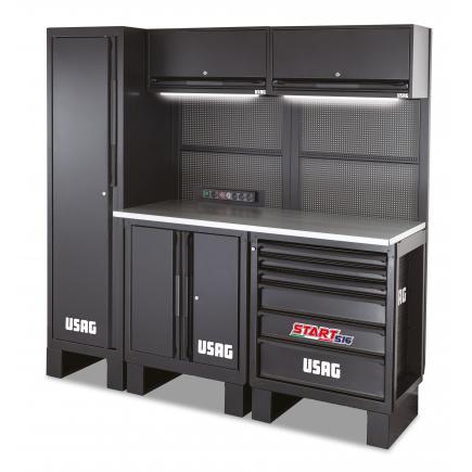 USAG Workshop furniture - wooden top - 1950x650x2000 mm - 1