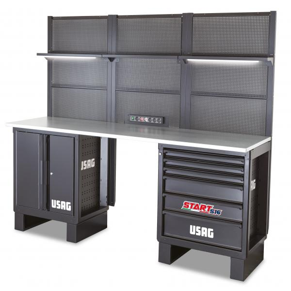 USAG Workshop furniture - wooden top - 2715x650x2000 mm - 1