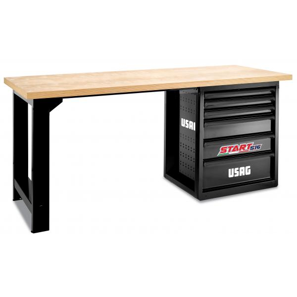 USAG START workbench with wooden top - 6 drawers (empty) - 1