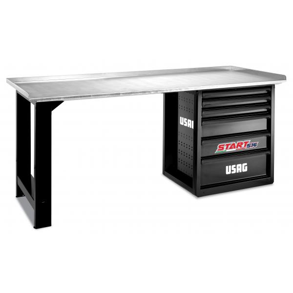 USAG START workbench with steel top - 6 drawers (empty) - 1