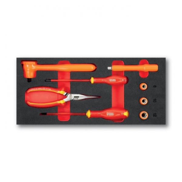 USAG Assortment with socket wrenches, ratchets, pliers and screwdrivers for electricians 1000V (8 pcs.) - 1