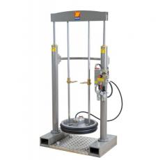 Frame lifter-press for grease