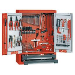 USAG Tool cabinet with assortment 496 B7 for car repair (198 pcs.) - 1