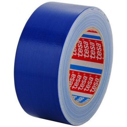 TESA Set of 5 Standard polyethylene coated cloth tape - Blue - 2