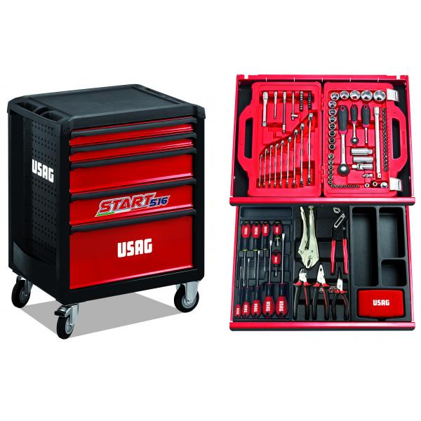 USAG U05168127E - 516 SP5B - START ROLLER CABINET - 5 DRAWERS, WITH ASSORTMENT 146 PCS. - 1