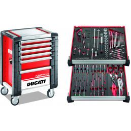 USAG DUCATI CORSE ROLLER CABINET - 6 DRAWERS, WITH ASSORTMENT 105 PCS. - 1
