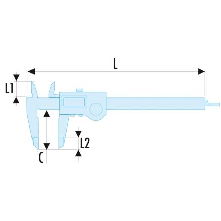 FACOM - Digital display calipers - 1/100th - 3