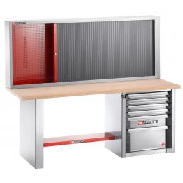 FACOM Heavy-duty workbench 2 m - 6 drawers and cabinet 2210 - 1