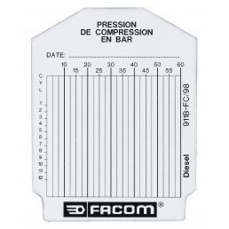 FACOM Set of 100 test cards for diesel engine - 1